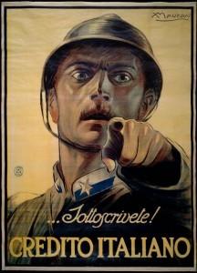 """""""... Sottoscrivete!"""" (Achille Mauzan, 1917)"""