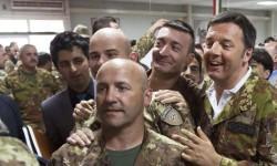 Renzi a Herat, Afghanistan.