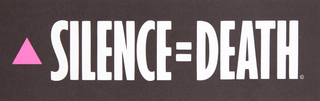 "Act-up, Silence = Death logo (""Silenzio = Morte"", NY 1987)"