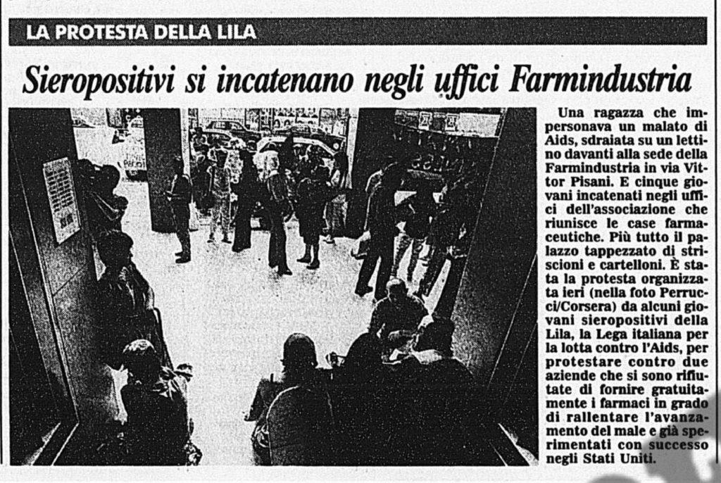 Scienza e protesa: occupazione a Farmindustria (1996)