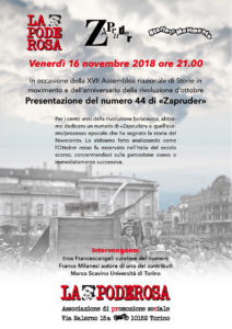 Zapruder 44 Torino novembre 2018